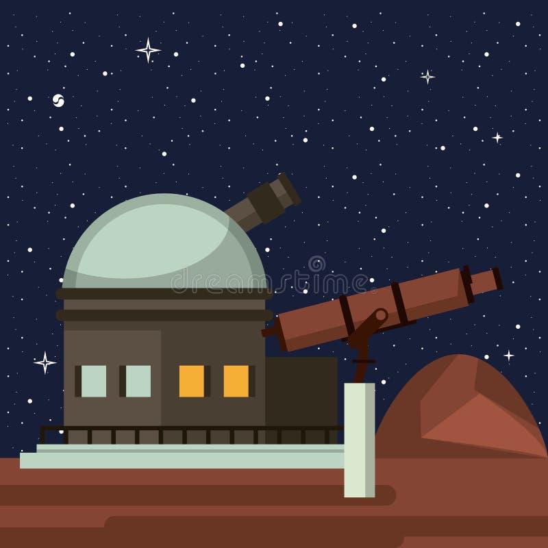 Telescopio molto grande royalty illustrazione gratis