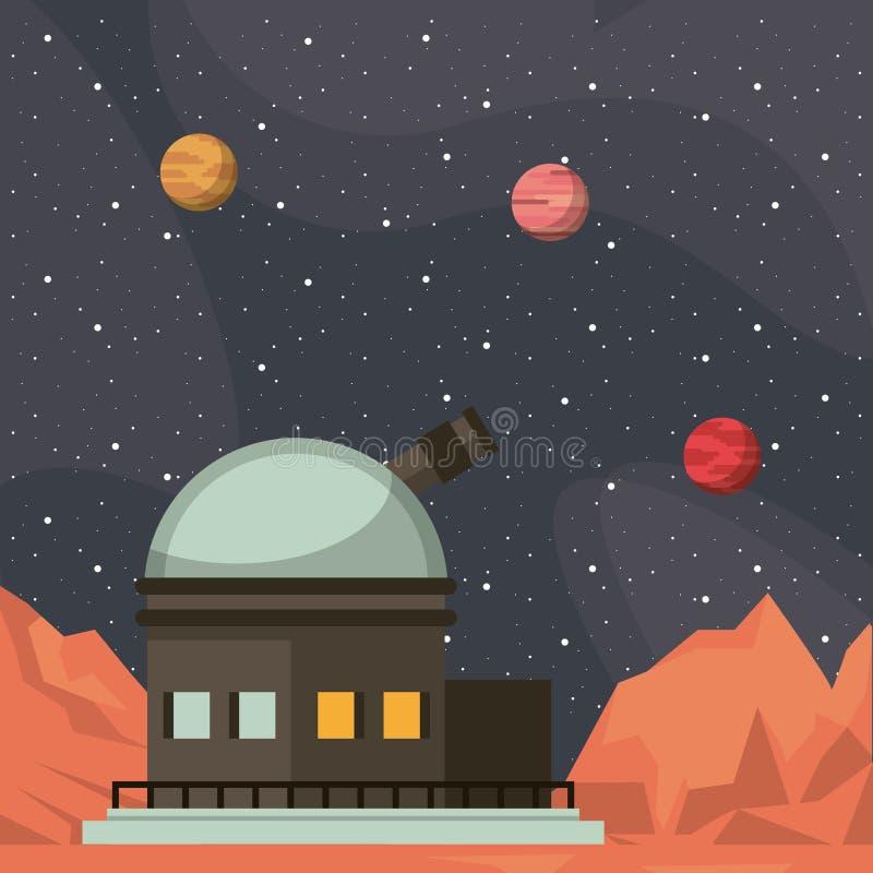Telescopio molto grande illustrazione di stock