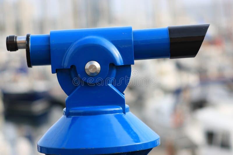 Telescopio pagato blu fotografie stock