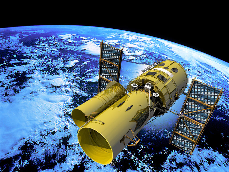 Telescopio spaziale illustrazione vettoriale