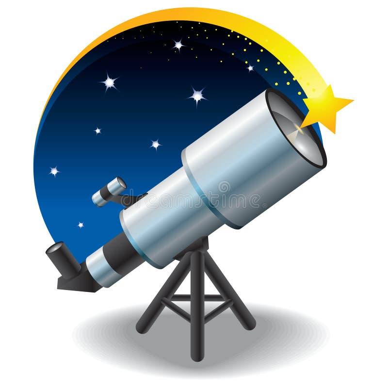 Telescopio y una estrella en el cielo