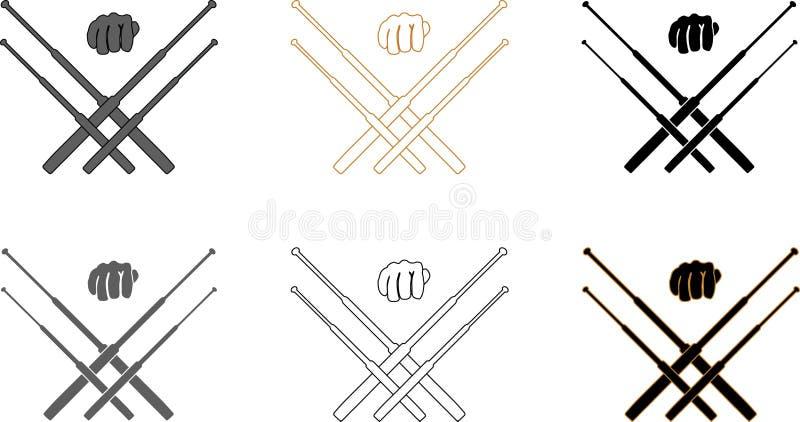 Download Telescopische Knuppels Voor Zelf - Defensie Opleiding Vector Illustratie - Illustratie bestaande uit defensie, pictogram: 107703782