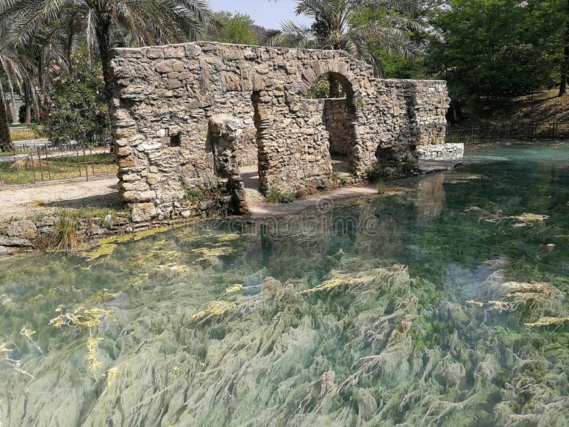 Telese - vue des bains antiques photo stock