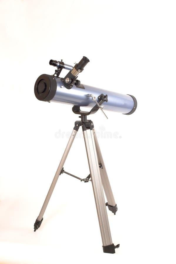 Teleskop über Weiß stockfotos