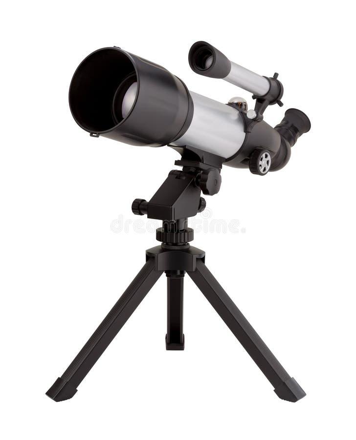 Teleskop och tripod royaltyfria foton