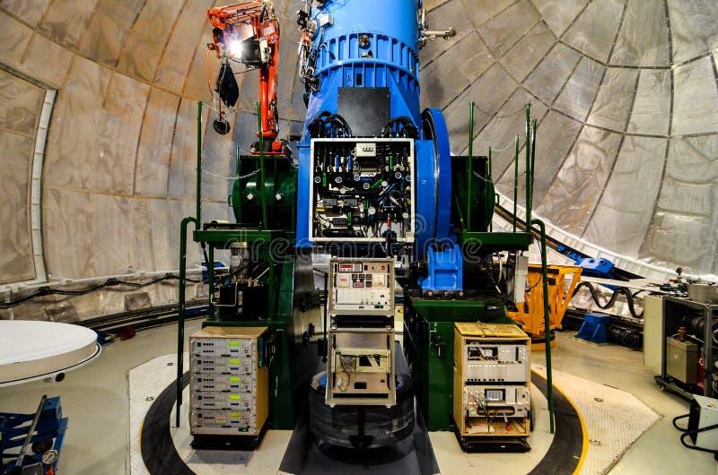 Teleskope des Teide astronomischen Beobachtungsgremiums stockfotos