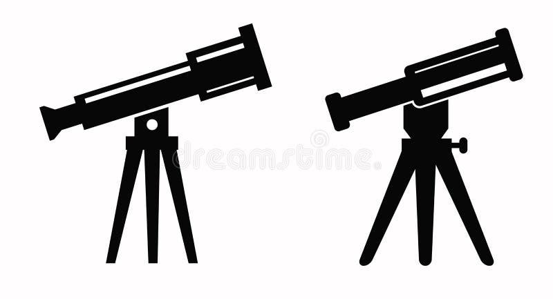 Teleskopsymbol stock illustrationer