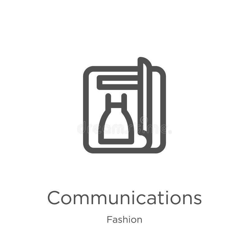 teletechniczny ikona wektor od mody kolekcji Cienka kreskowych komunikacji konturu ikony wektoru ilustracja Kontur, cienieje lini ilustracja wektor