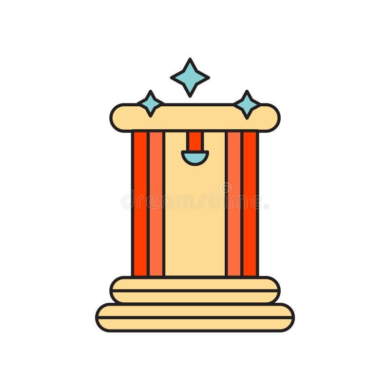Teletransportation icon vector isolated on white background, Teletransportation sign , technology symbols royalty free illustration