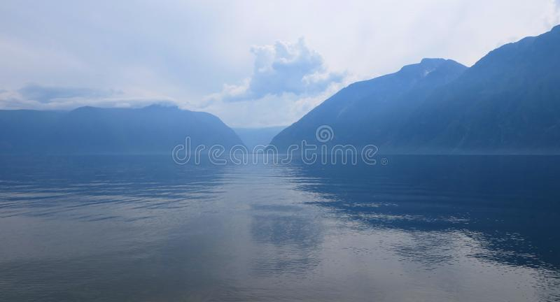 Teletskoe lake, Russia royalty free stock photo