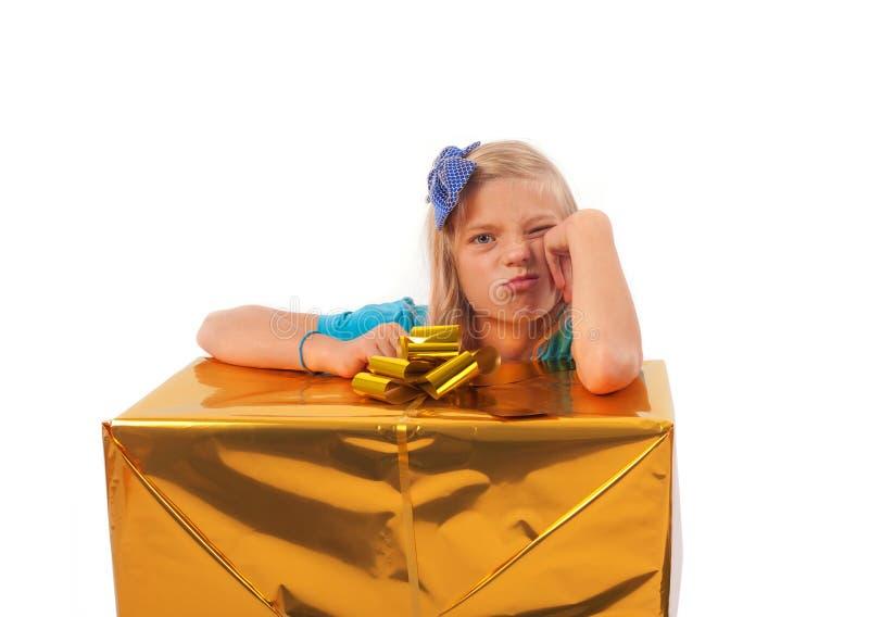 Teleurgesteld bedorven meisje stock foto