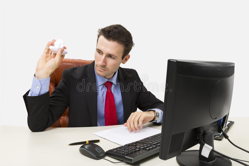 Teleurgestelde manager stock foto