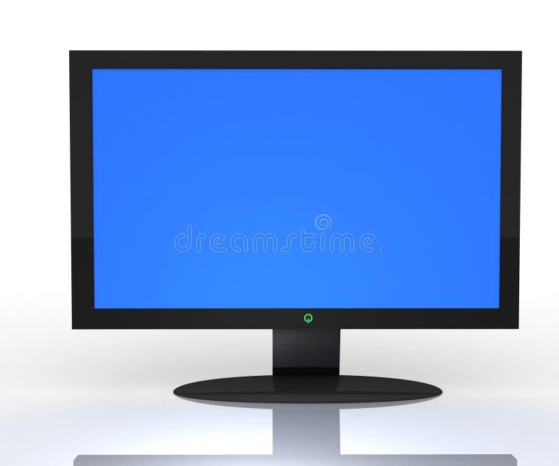 televisão 3D no profil ilustração do vetor