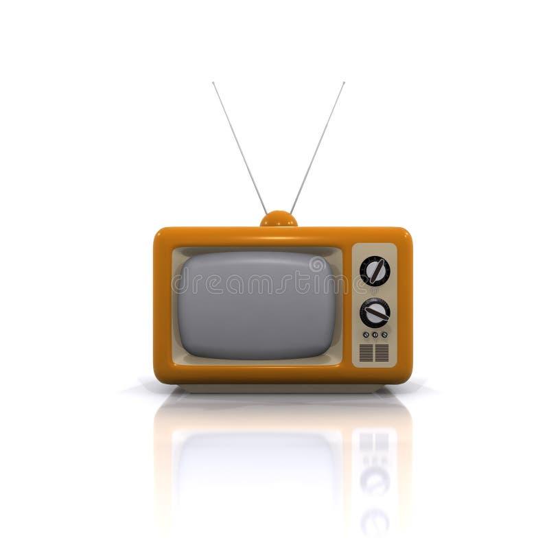 televisão 3d velha ilustração royalty free