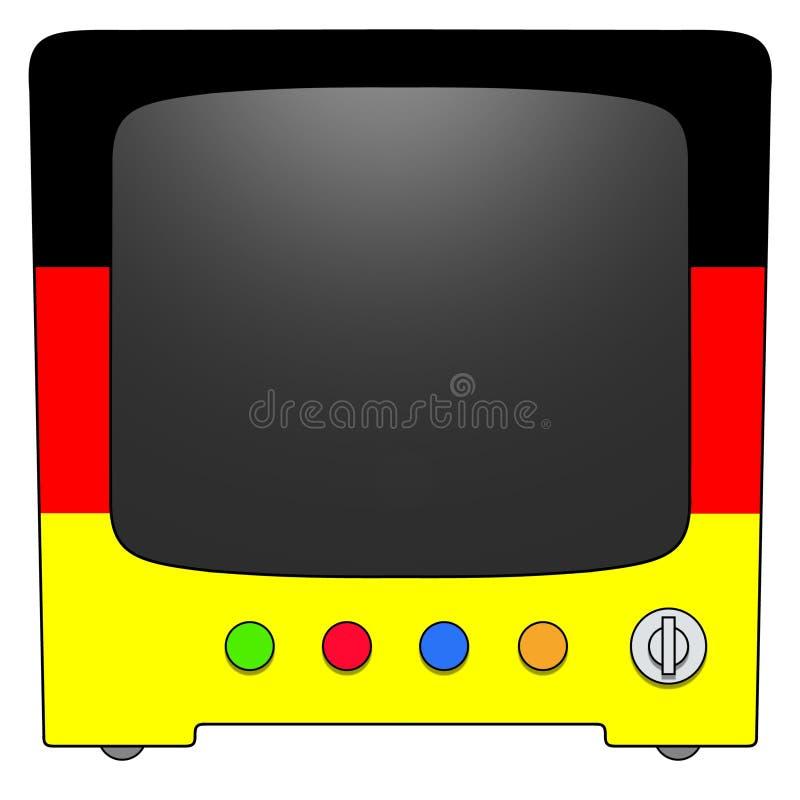 Televisão Alemanha ilustração royalty free
