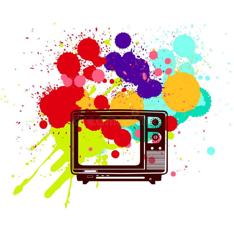 Televisão colorida ilustração do vetor