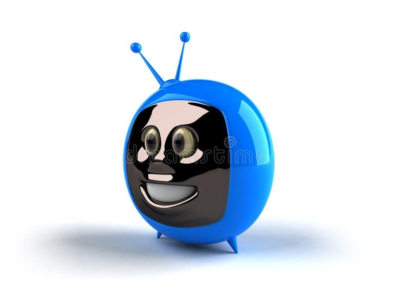 Televisão com uma face ilustração royalty free
