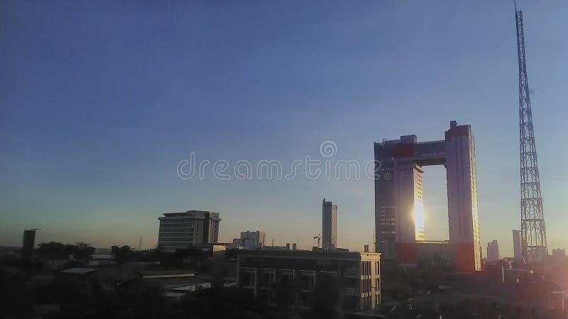 Televisão da cidade da torre imagem de stock royalty free