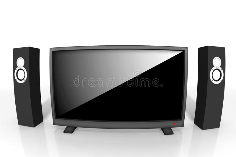 Download Televisão De Definição Elevada Ilustração Stock - Ilustração de digital, audio: 10052681