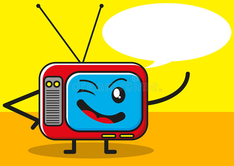 Televisão engraçada ilustração stock