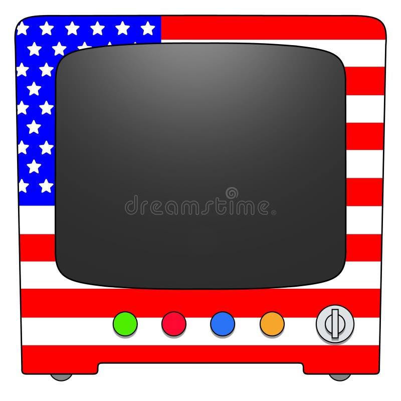 Televisão EUA ilustração royalty free