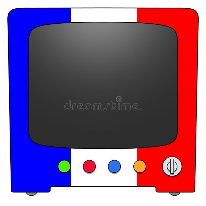 Televisão France ilustração stock