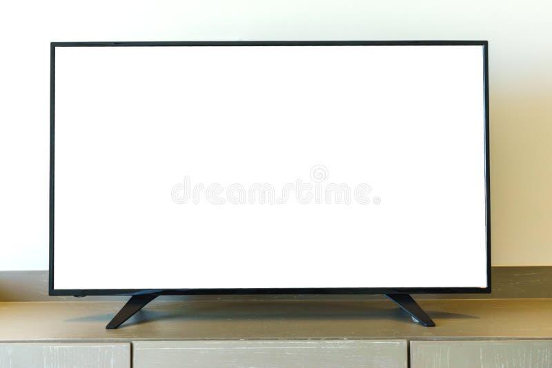Televisão na tabela imagem de stock