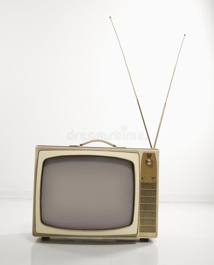 Televisão retro. imagem de stock