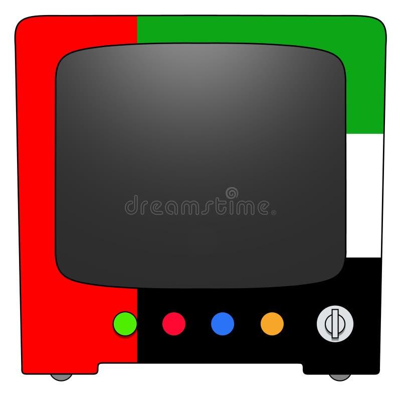 Televisão UAE ilustração stock