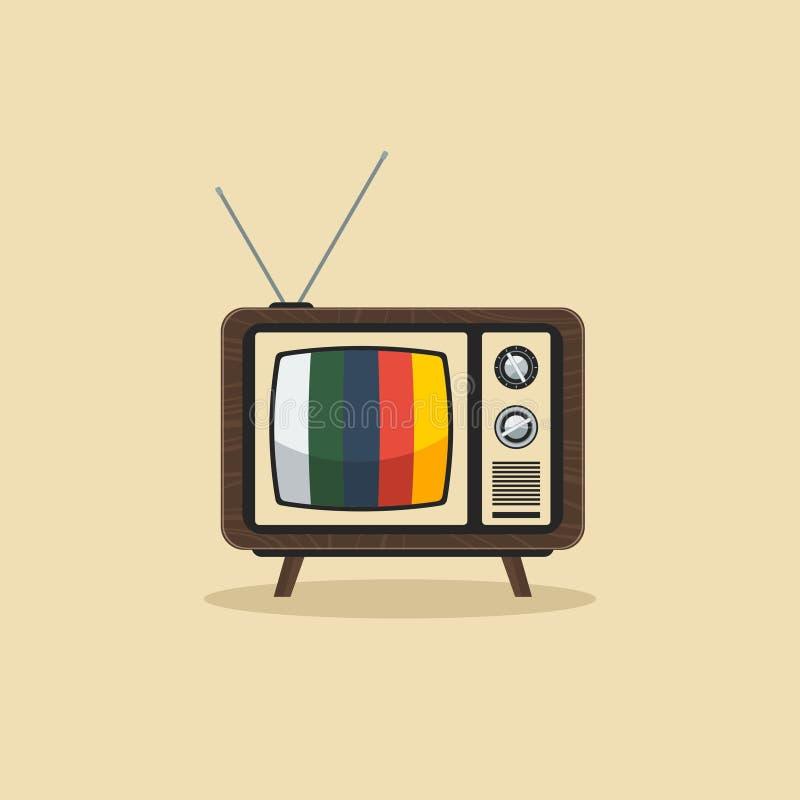 Televisão velha ilustração royalty free