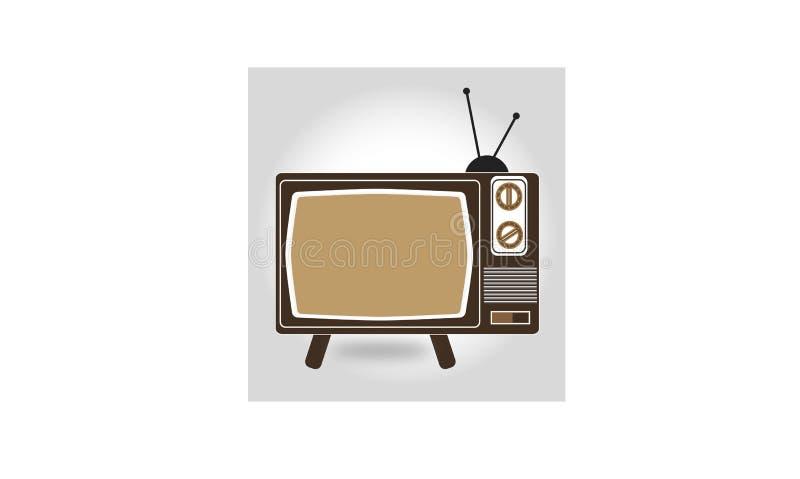 Televisão velha do projeto do ícone ilustração do vetor