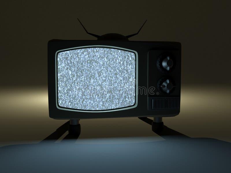 Televisão velha, tevê retro não sinal, ruído da tevê ilustração do vetor