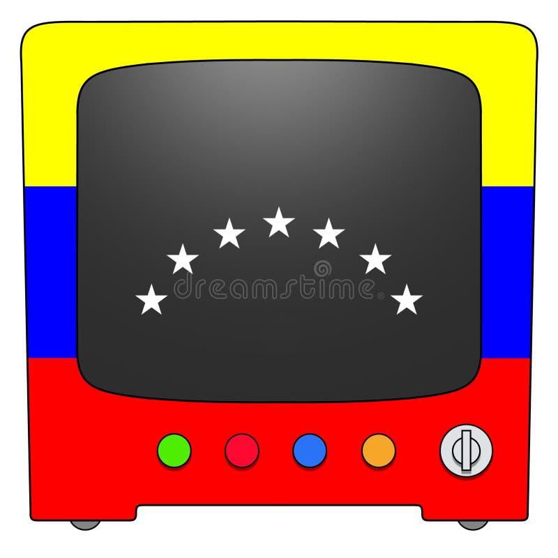Televisão Venezuela ilustração stock