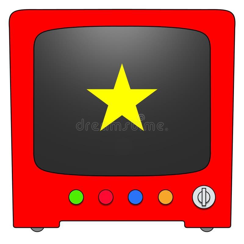 Televisão Viêt Nam ilustração royalty free