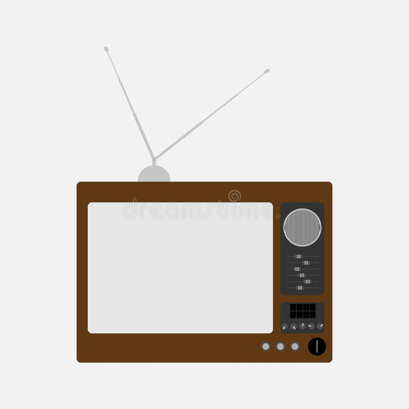Televis?o velha Tev? retro Ilustra??o do vetor ilustração stock