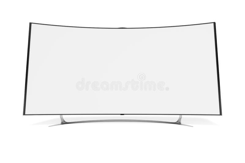 Televisión con pantalla grande curvada libre illustration