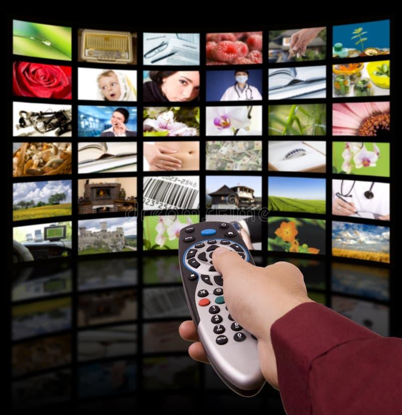 Televisión de Digitaces, TV teledirigida. fotos de archivo