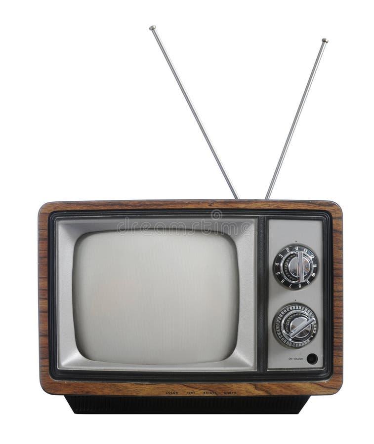 Televisión de la vendimia de Grunge imágenes de archivo libres de regalías