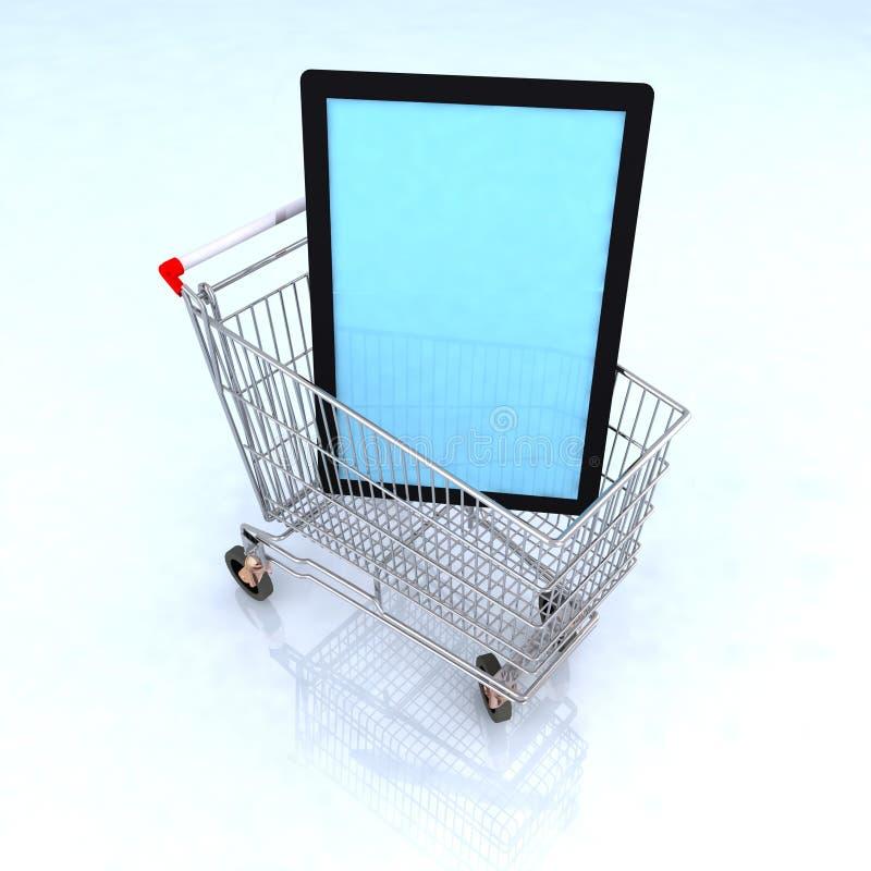 Televisión del comercio electrónico del concepto libre illustration