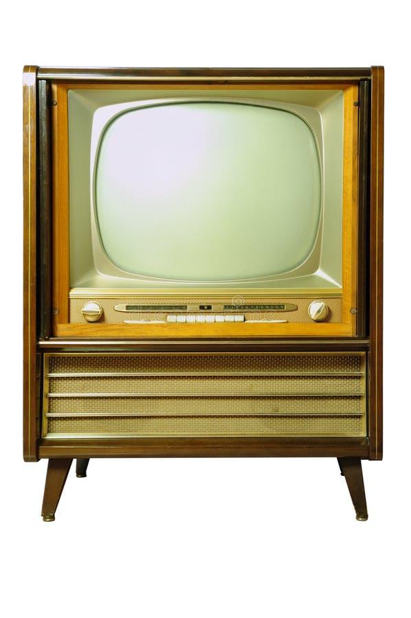 Televisión del vintage fotos de archivo