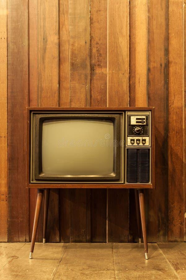 Televisión del vintage o TV imagenes de archivo