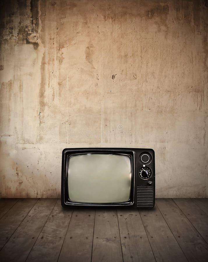 Televisión en sitio foto de archivo