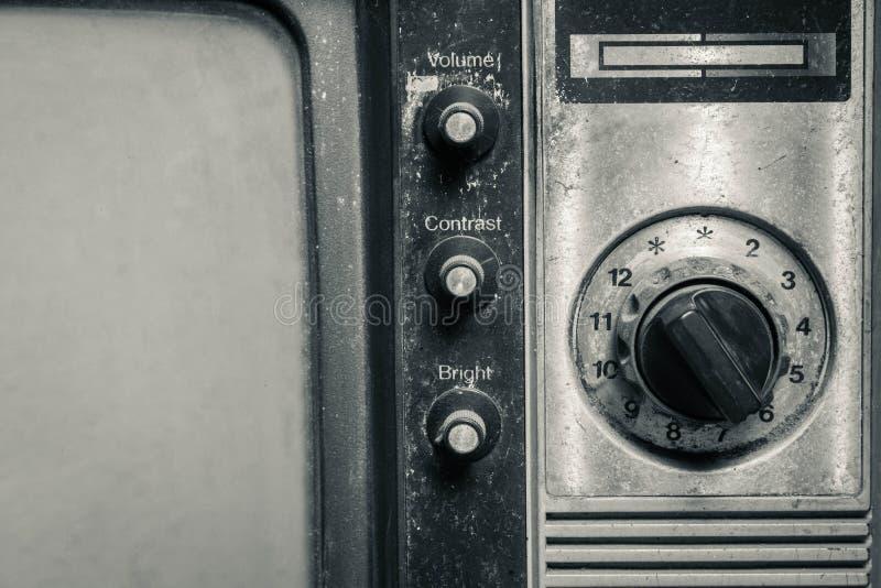 Televisión pasada de moda imagenes de archivo
