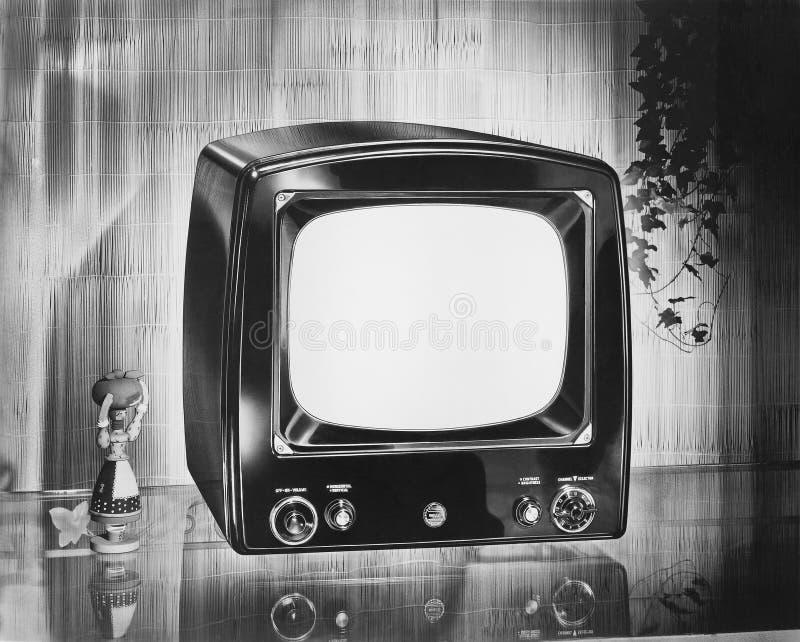 Televisión portátil de la marca de Philco, circa 1952 (todas las personas representadas no son vivas más largo y ningún estado ex foto de archivo