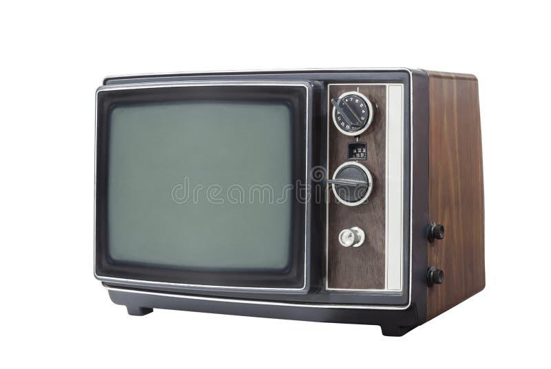 Televisión portátil retra aislada foto de archivo libre de regalías