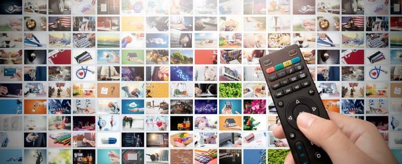 Televisión que fluye el vídeo Medios TV a pedido fotos de archivo libres de regalías
