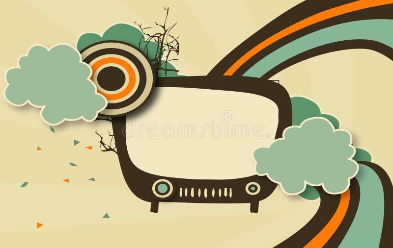 Televisión retra libre illustration