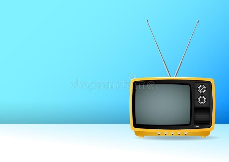 Televisión retra del viejo vintage aislada en el fondo blanco libre illustration