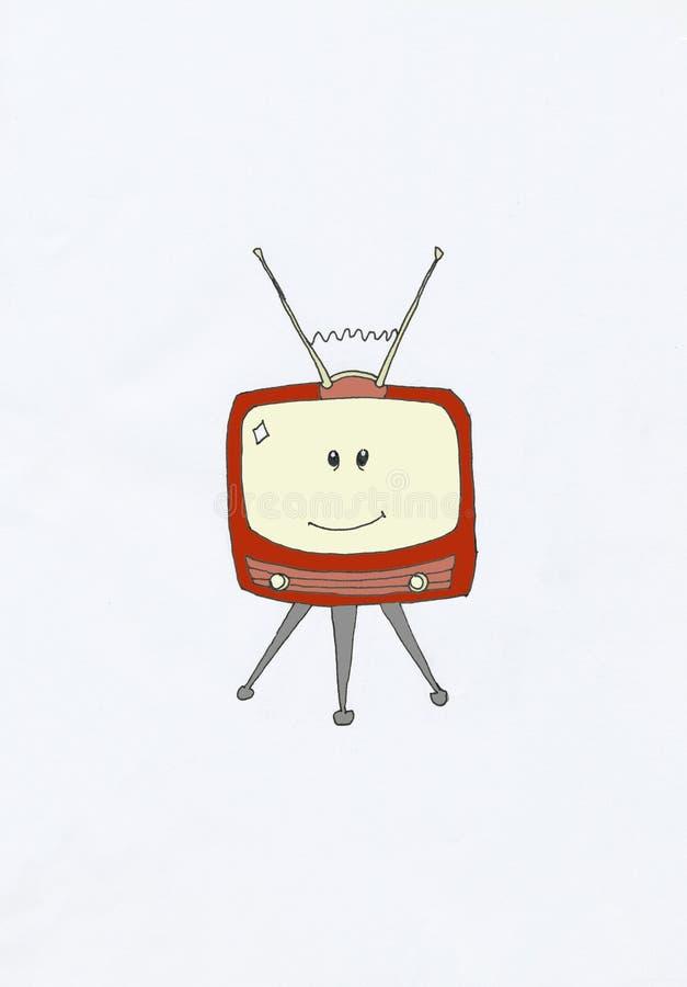 Televisión sonriente libre illustration