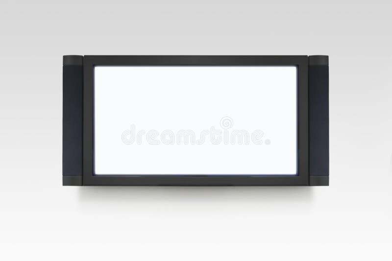 Televisión vacía del plasma foto de archivo